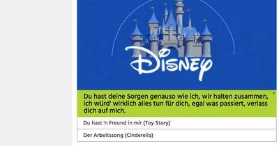 Erkennst du den Disney-Song an nur einer Zeile?