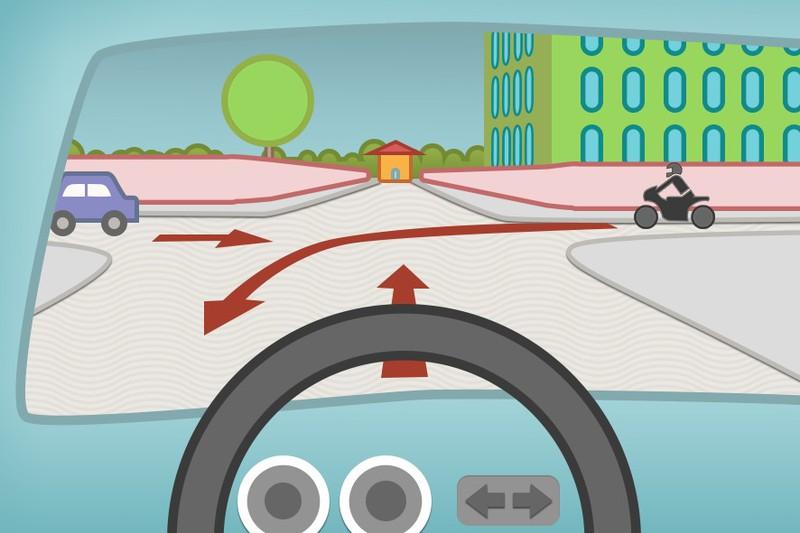 Welches Verhalten im Straßenverkehr ist hier richtig