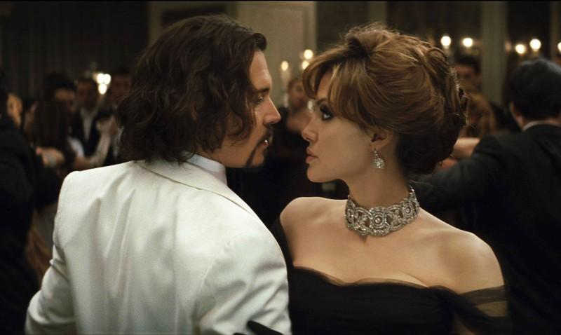 Die Schauspieler Jonny Depp und Angelina Jolie