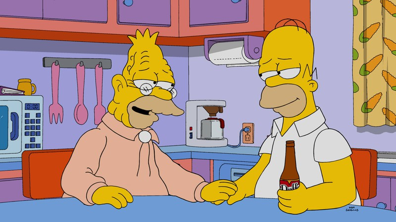 Grandpa Abe bringt die Familie Simpsons häufig in Schwieirigkeiten.