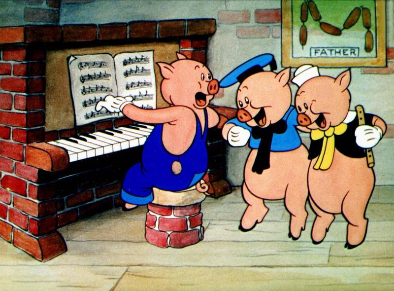 """Die """"Drei kleinen Schweinchen"""" sind ziemlich makaber."""