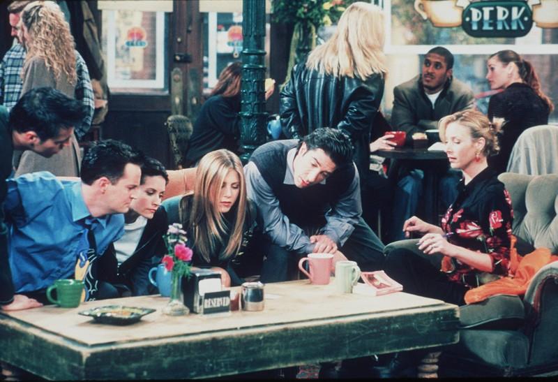 """Eine Szene aus der Serie """"Friends"""" mit Jennifer Aniston und David Schwimmer"""