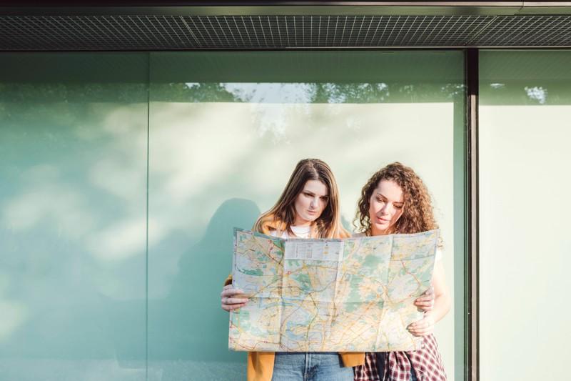 Landkarten zur Navigation waren manchmal gar nicht so einfach.