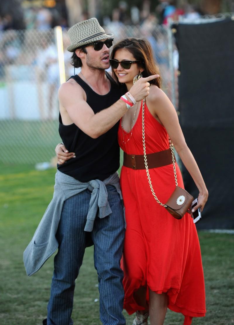 Auf dem Bild sieht man Ian Somerhalder und Nina Dobrev, die früher mal ein Paar waren.