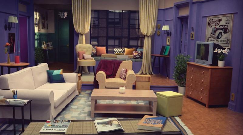 """Auf dem Bild sieht man das Wohnzimmer aus """"Friends"""" und das Wohnzimmer gibt es jetzt bei IKEA."""