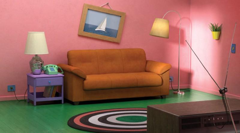 Auf dem Bild sieht man das Wohnzimmer der Simpsons und das Wohnzimmer kann man bei IKEA kaufen.