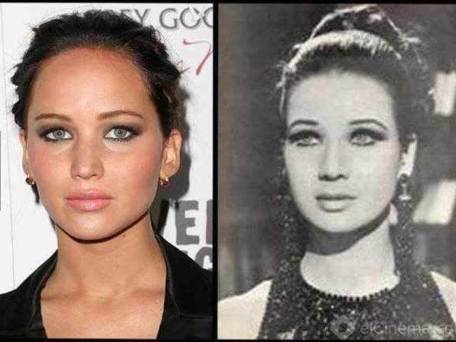 Jennifer Lawrence und ihr Doppelgänger sind gleich bezaubernd.