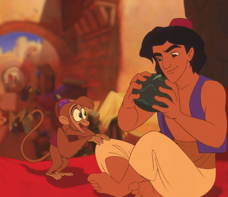 Aladdin erscheint auf dem Markt.