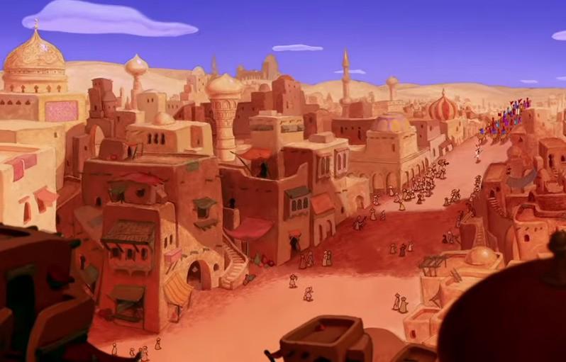 """Die Stadt in """"Aladdin"""""""