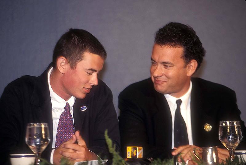 Tom Hanks mit seinem Sohn Colin Hanks.