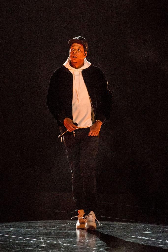 Jay-Z auf einer Bühne