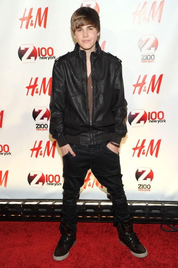 Justin Bieber als Kind im Jahr 2010
