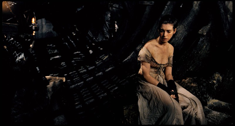 """Schauspielerin Anne Hathaway in """"Les Miserable"""", kurz nachdem ihr die Haare abgeschnitten wurden."""
