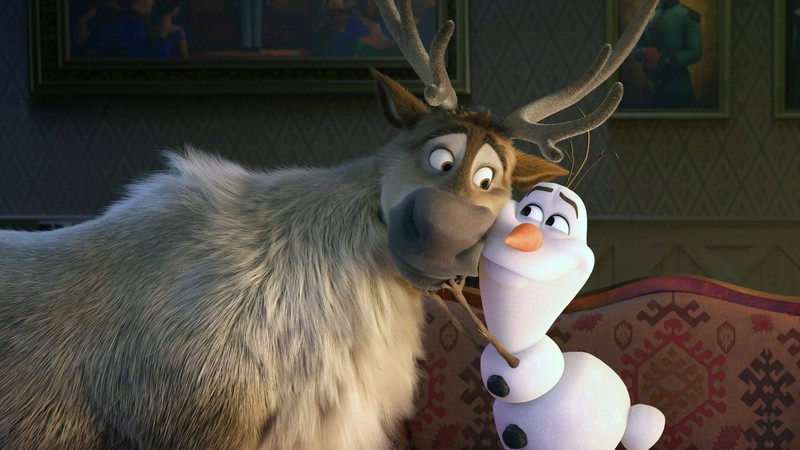 Olaf und Sven im Film ,,Frozen!