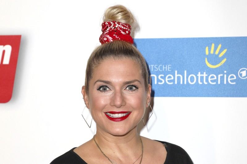 Der ehemalige 90er-Star Jeanette Biedermann bei einem deutschen Event