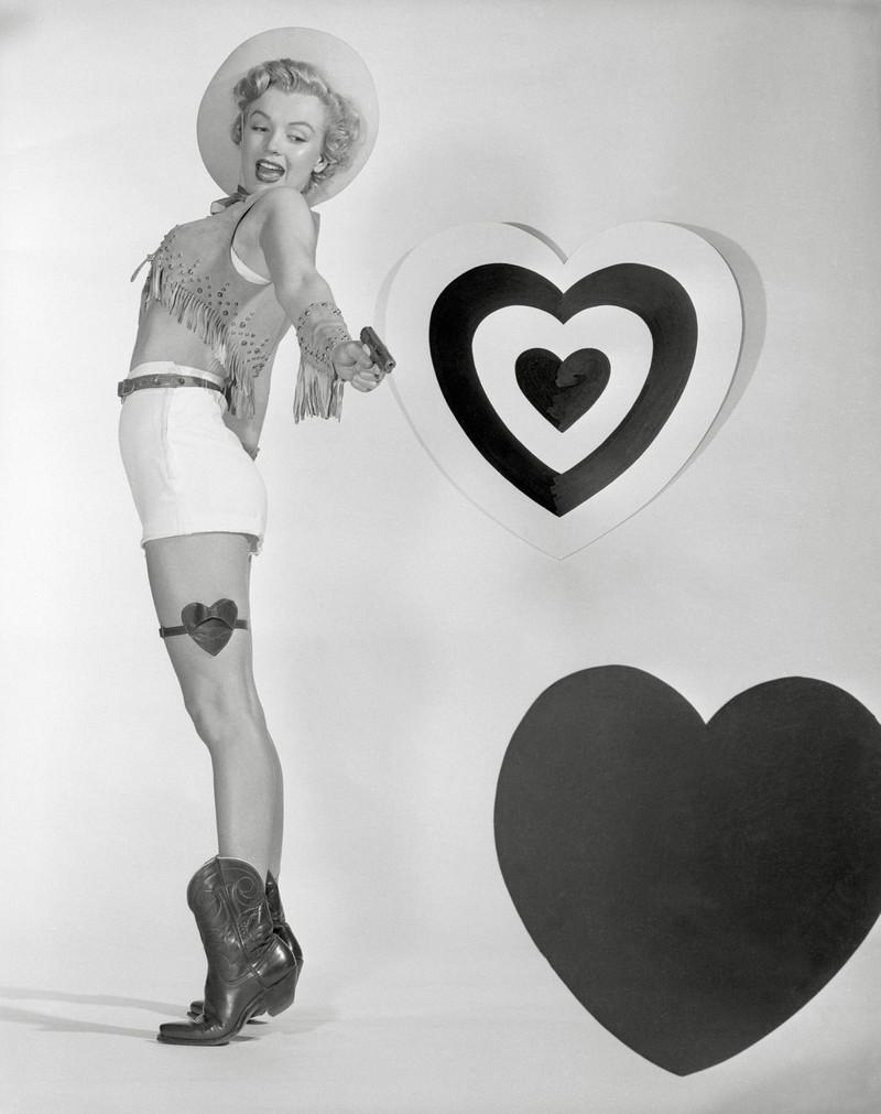 Film-Ikone Marilyn Monroe bei einem Foto-Shooting