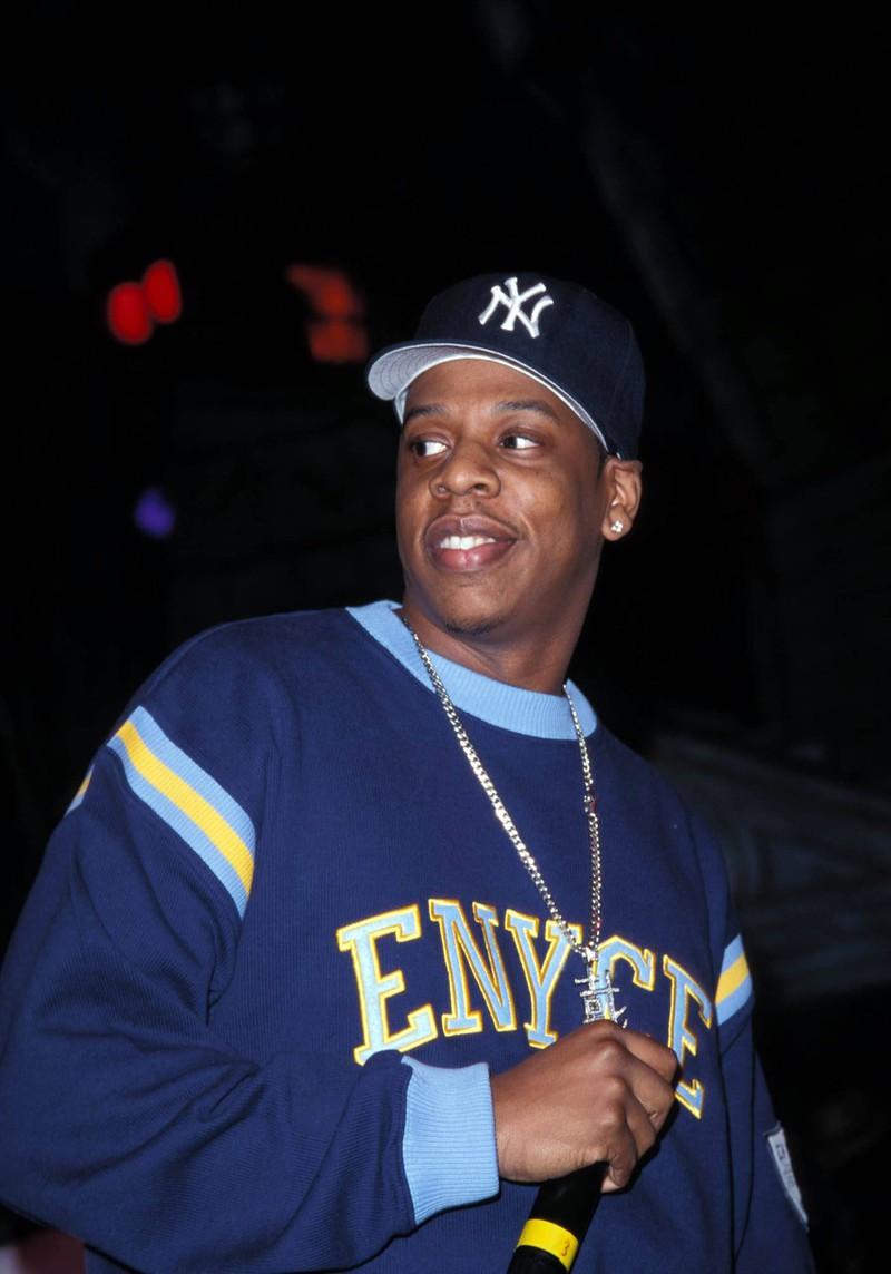 Jay-Z in den 90er-Jahren auf einer Bühne