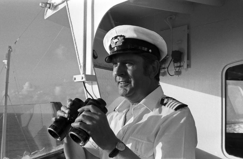 """Ein echter Klassiker: Der Kapitän des """"Traumschiffs"""" von 1981."""
