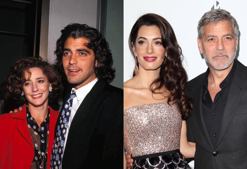 Es ist George Clooney zu erkennen, der zuerst mit Talia Balsam verheiratet war und jetzt mit Amal Clooney verheiratet ist