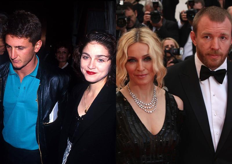 Man sieht Madonna und ihre beiden Ex-Ehemänner: Guy Ritchie und Sean Penn