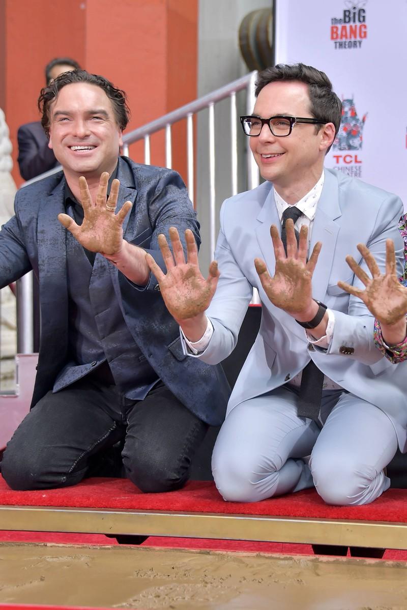 Johnny Galecki und Jim Parsons bei der Handprints Ceremony: Sie spielen die Hauptrolle bei TBBT