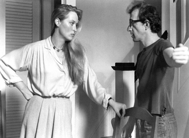 Meryl Streep in einer der ersten größeren Rollen an der Seite von Woody Allen, seitdem hat sie sich sichtlich verändert.