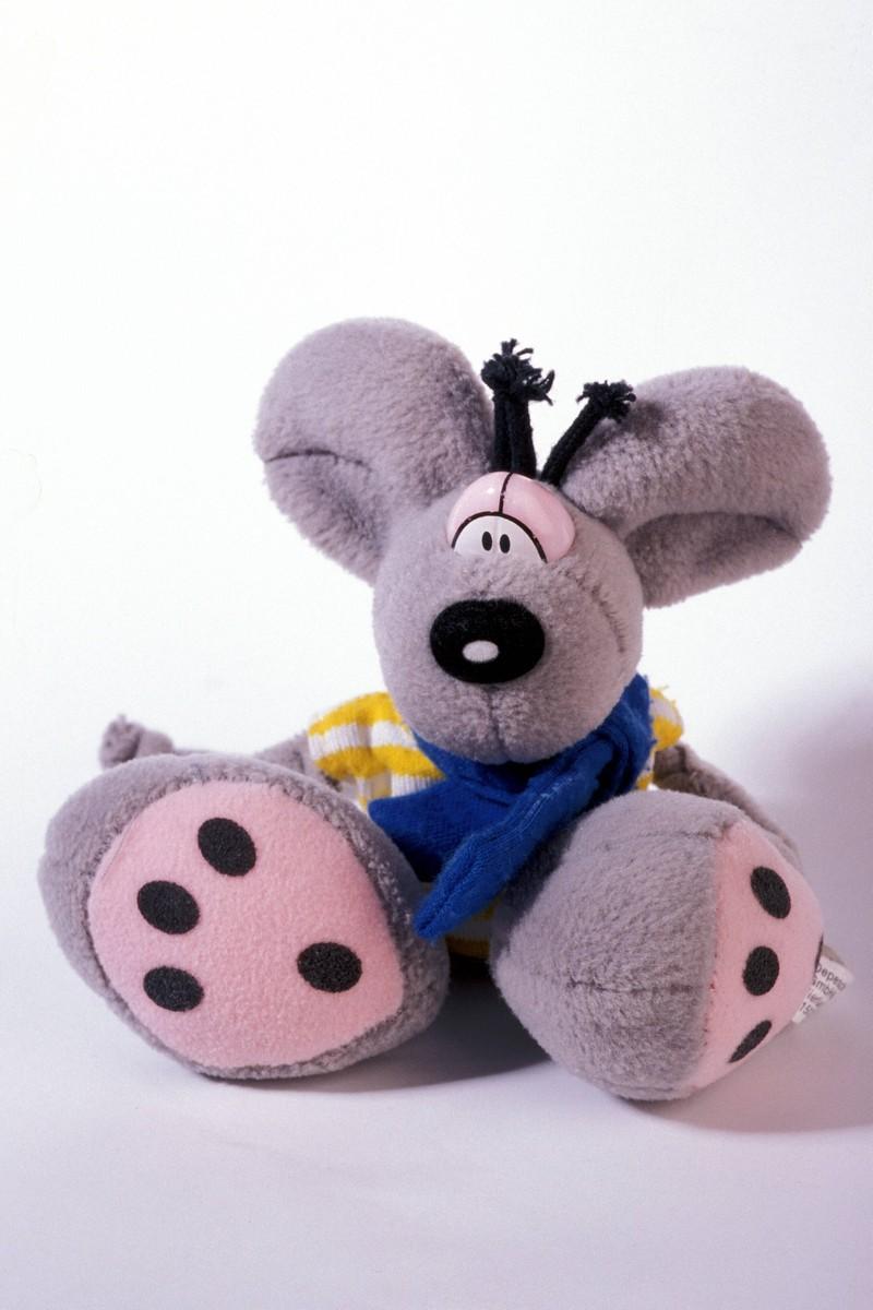 Diddl-Maus, die zu den Spielsachen und Gegenständen der 90er gehört