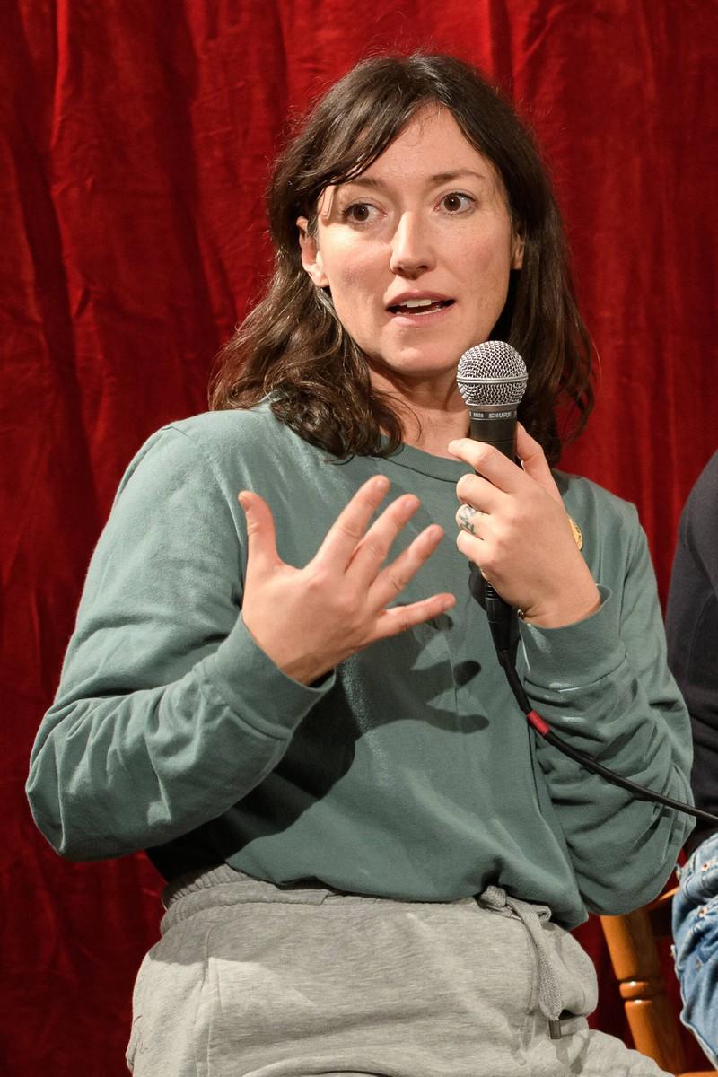Charlotte Roche bei der Auftaktveranstaltung zur Crowdfunding-Aktion zur Mietung des Olympiastadions fuer die groesste BuergerInnenversammlung der Welt