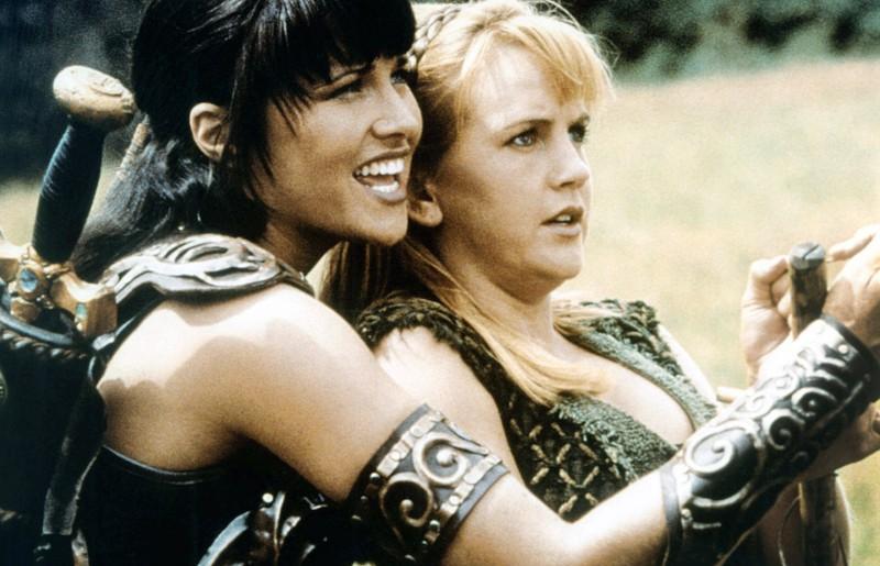 """Die Darstellerinnen """"Xena"""" und """"Gabrielle"""" waren ein Team in der Serie."""