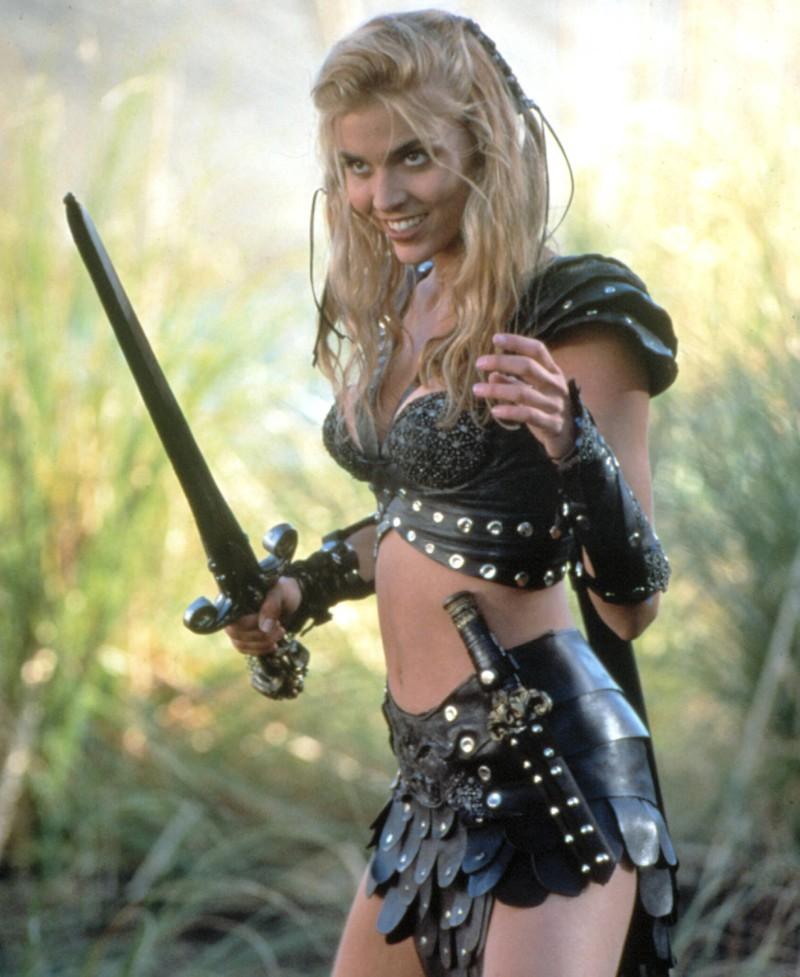 """Die Schauspielerin Hudson Leick, die eine Rolle als Callisto in der Serie """"Xena"""" hatte"""