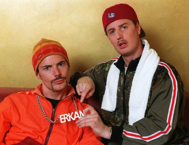 Die Begegnung mit dem bekannten Komiker-Duo war sicherlich witziger als so manch andere.