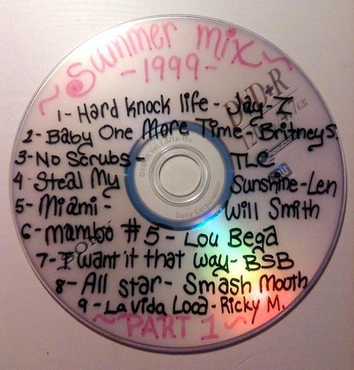 Eine selbst gebrannte CD von früher, die einem heute peinlich ist
