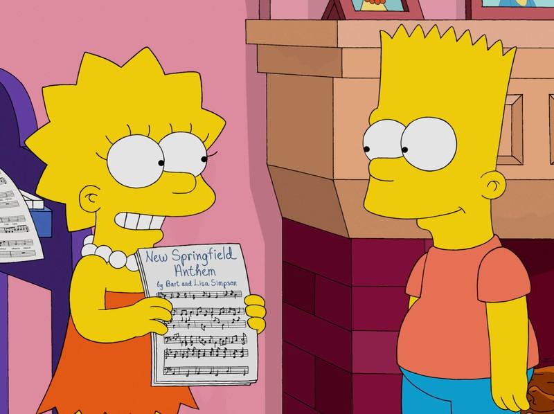 Bart und Lisa ärgern sich häufig gegenseitig!