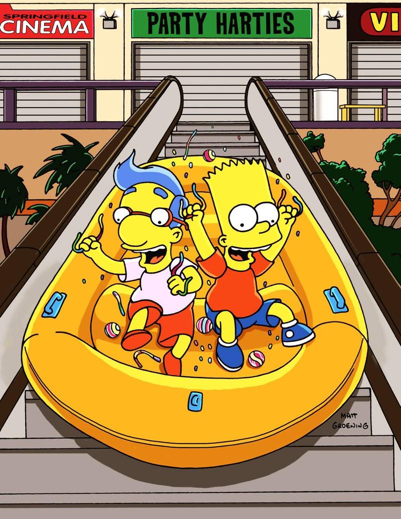 Bart und Milhouse sind beste Freunde.