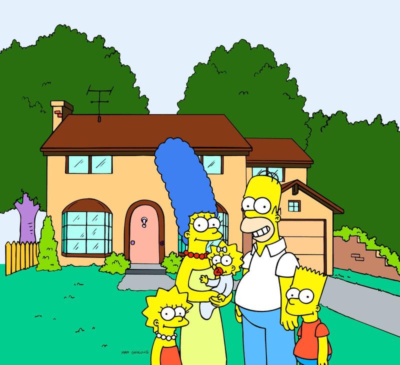 Das Haus der Simpsons steht in der Evergreen Terrace