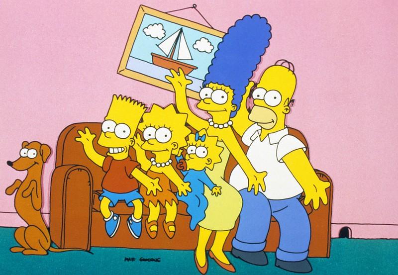 Die Familie Simpsons begrüßt ihre Fans auf der berühmten Familien-Couch