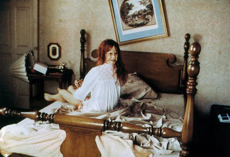 """Ein Foto von Linda Blair aus """"Der Exorzist"""", auf dem sie gruselig aussieht"""