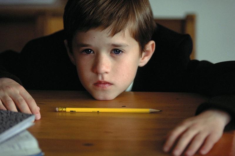 """Haley Joel Osment  aus """"The Sixth Sense"""", der damals noch ein kleiner Junge war."""