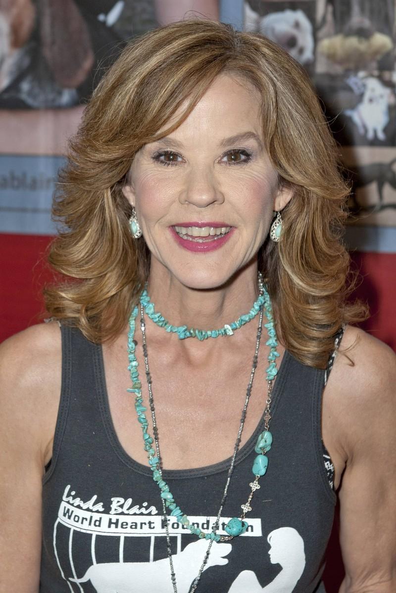 Linda Blair, die immer noch Schauspielerin, aber nicht so erfolgreich wie damals, ist.