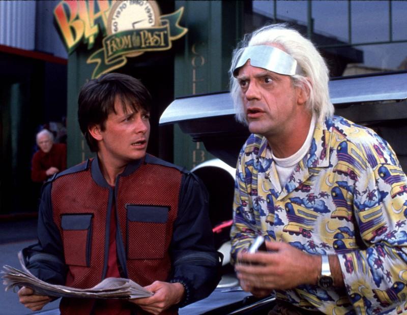 """Die Kultrollen des Marty McFly und Dr. Brown in """"Zurück in die Zukunft""""."""