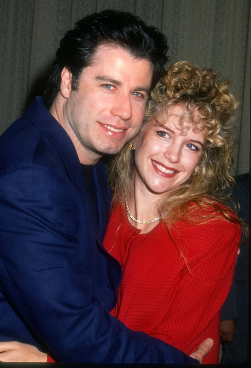 Das Foto zeigt Kelly Preston mit ihrem Ehemann John Travolta in jungen Jahren