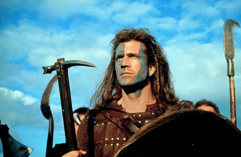 Mel Gibson am Set von Braveheart