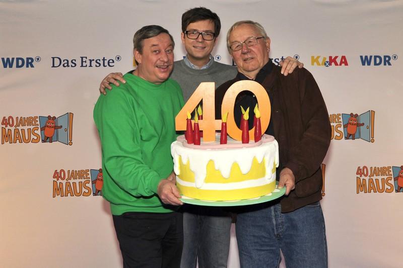 Christoph Biemann, Ralph Caspers und Armin Maiwald feierten den Geburtstag der Maus.