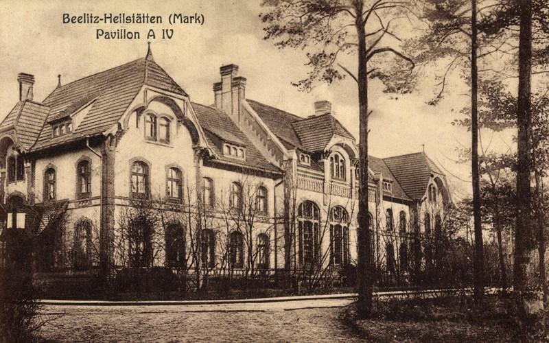 Ein historisches Bild der Heilstätten von Beelitz