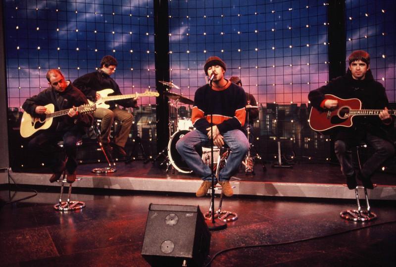 """""""Oasis"""" bei ihrem Auftritt 1994."""