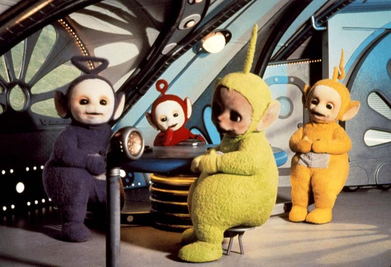 Das sind die Teletubbies: , Tinky Winky, Po, Dipsy, Laa-Laa