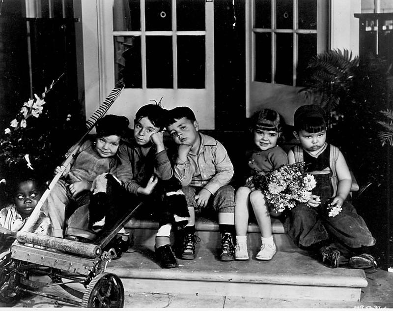 Porky und Buckwheat waren bei den größeren Kindern bei vielen Abenteuern dabei.