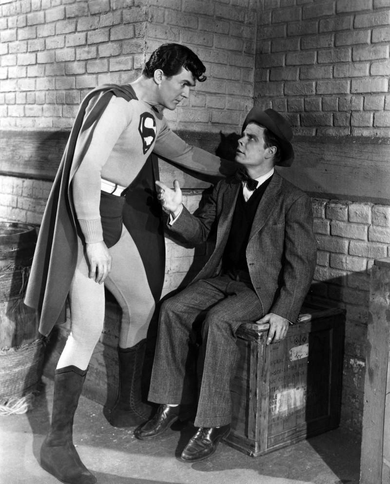 Tommy Bond an der Seite des damaligen Supermans.