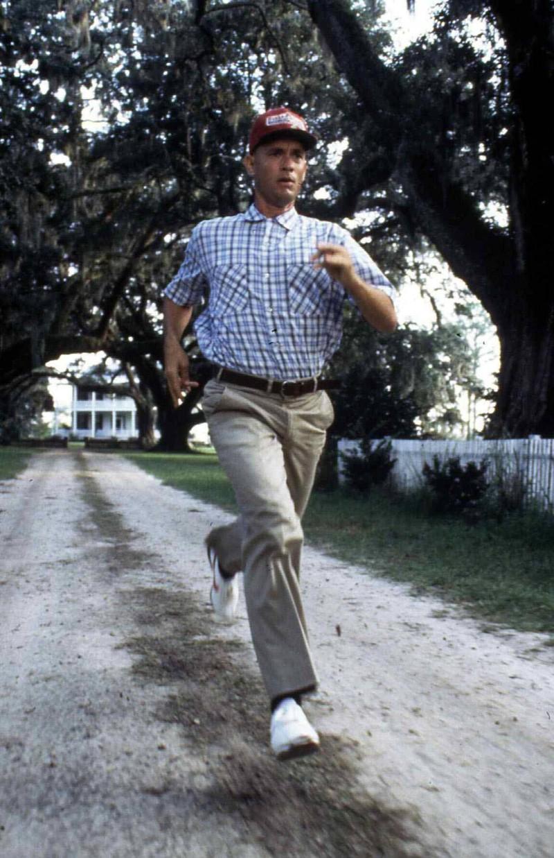 Forrest Gump bleibt unvergessen, wie er durch Amerika lief