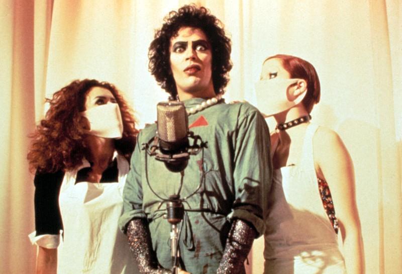 """Ein Foto des Films """"The Rocky Horror Picture Show"""", der 1975 Premiere feierte"""